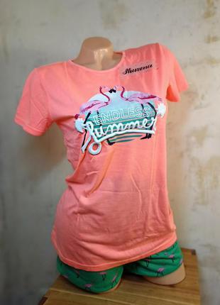 Пижама розовый фламинго primark испания в подарочной уп!