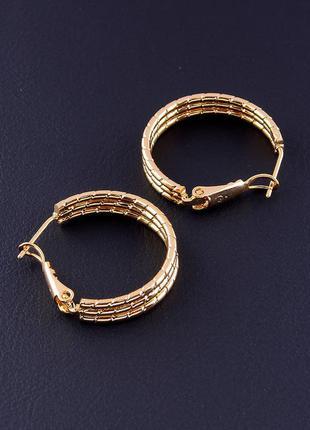Серьги маленькие колечки ювелирная бижутерия