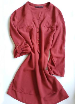 Atmosphere блузка рубашка блуза оранжевая шифон с золотистыми ...