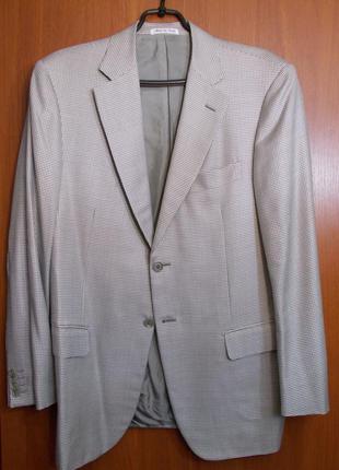 Пиджак пестрый бело-серый шелк-шерсть *pal zileri* италия 52-54р
