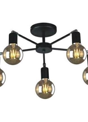 Черная Люстра Modern Laze на 5 ламп