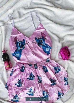Шелковая пижама Стич