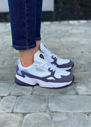 Adidas falcon violet white кроссовки адидас фалкон белые фиоле...