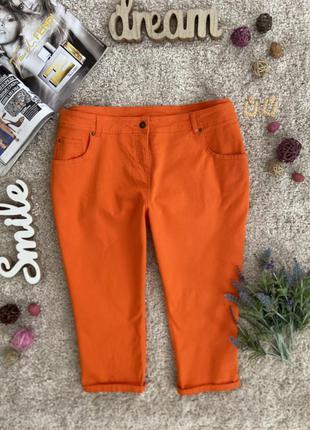 Актуальные яркие джинсовые бриджи бермуды капри №232 george