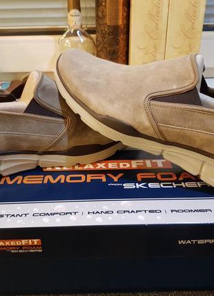Skechers оригинал новые кожаные туфли