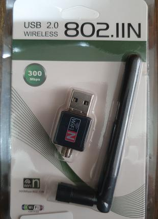 Сетевая карта USB 2.0 WiFi 802.11N 300Mbps 2.4Ghz
