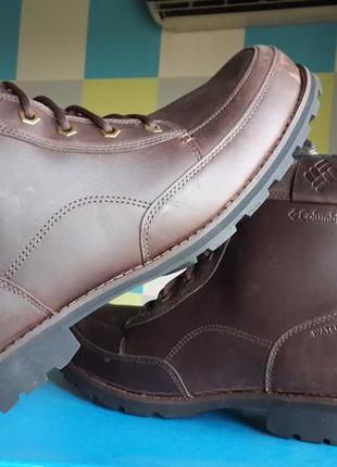 Columbia оригинал   кожаные ботинки chinook зимние