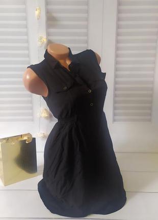 Платье сарафан черный, s
