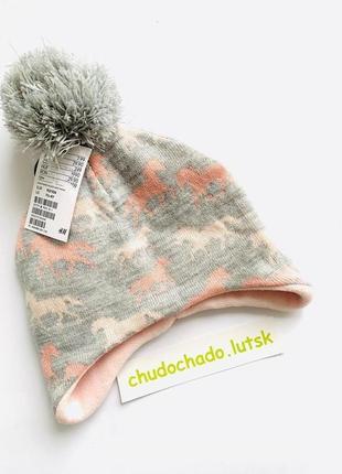 Теплая зимняя шапка h&m для девочек