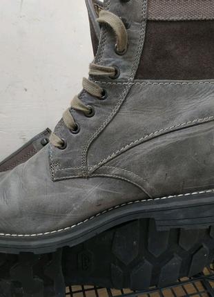 Качественные кожаные ботинки Clarks размер 45