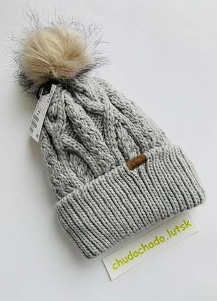 Тёплая шапка hmдля девочки с помпоном