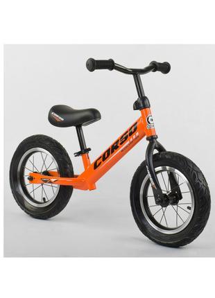 Велобег Беговел Corso Оранжевый 68170 Стальная рама колеса 12 над