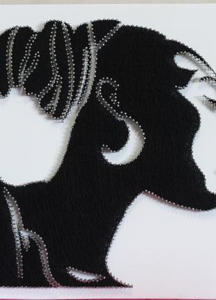 Картина в стиле String Art. Стринг арт