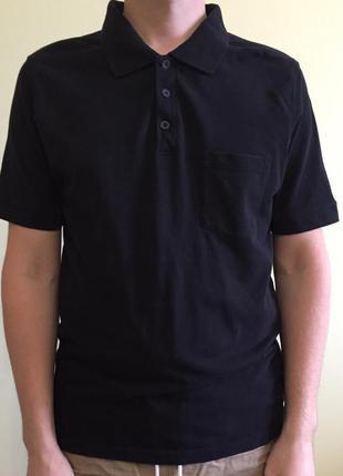 Футболка, поло, черное поло, мужская черная футболка.