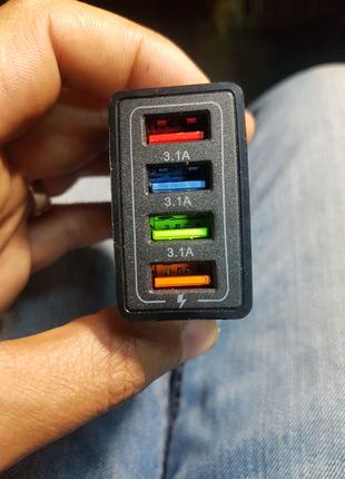 Usb зарядка 3А 5B 4порти