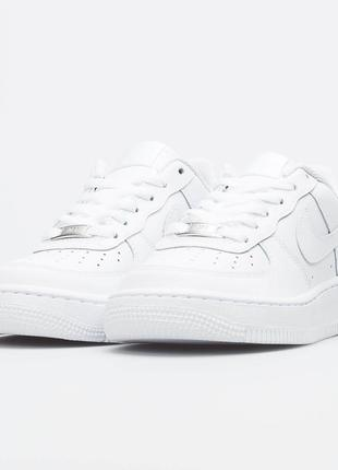 Кроссовки nike air force one low white белые