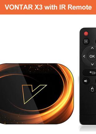 VONTAR X3, 4/64, тв бокс box, приставка, смарт, андроид 9, S905X3