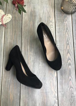 5th avenue замшевые туфли на среднем каблуке