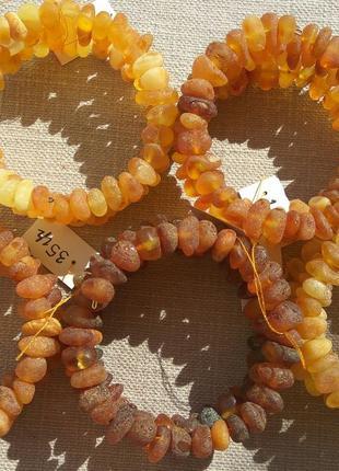 Лечебные янтарные многорядные браслеты
