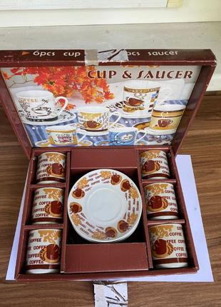 Сервиз кофейный на 6 персон в подарочной коробке
