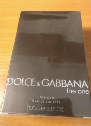 Туалетная вода Dolce&Gabbana THE ONE 100ml