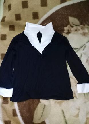 Кофта зі вставками блузи