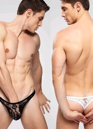 Эротическое белье, мужские кружевные стринги