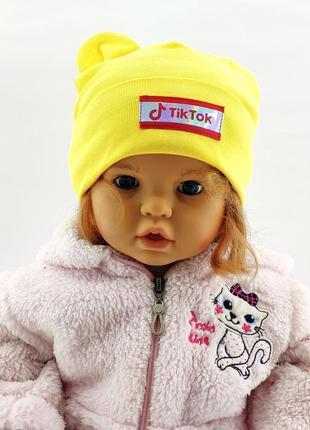 Шапки 48 по 52 размер трикотажная детская головные уборы детские