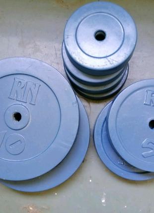 Блины, диски на штангу, гантели 40 кг