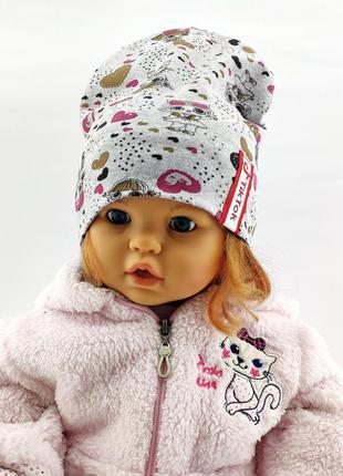Шапки с 50 по 54 размер трикотажная детская головные уборы дет...