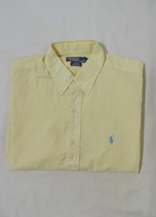 Новая рубашка текстурная желтая *ralph lauren* 'BLAKE' 56-60р