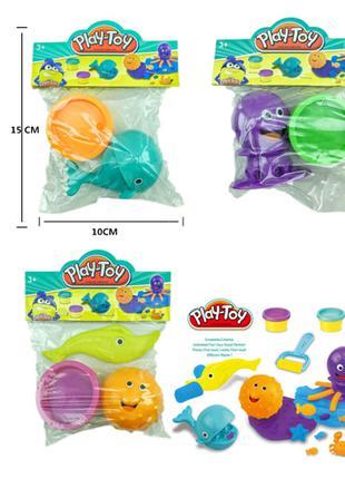 Набор для творчестваSM8013(360шт/2) 3 вида, пластилин, фигурки, а