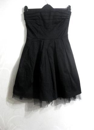 Платье vero moda юбка фатин без бретелей корсет чёрное коттон ...