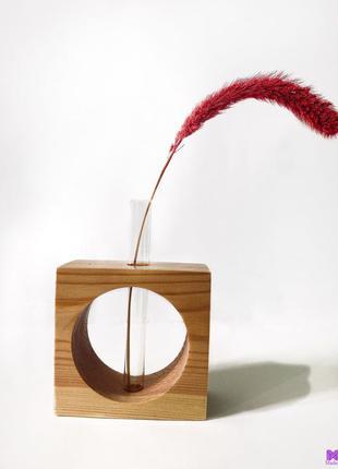 Вазочка, ваза, декор, подарок, натуральное дерево, красота