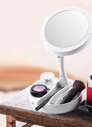 Зеркало складное с led подсветкой my fold away mirror для макияжа