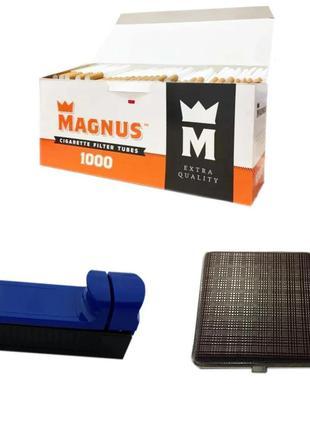 Гильзы для набивки сигарет Magnus 1000 штук, Машинка, Портсигар