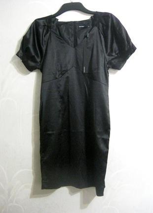 Платье футляр vero moda миди чёрное как шёлк строгое деловое о...
