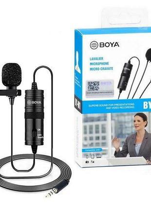 Петличный микрофон Boya by-m1 для пк,камер,android
