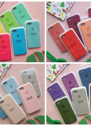 Чехол Silicone case на iphone 5, se (5c, 5s, 5se) чехлы айфон