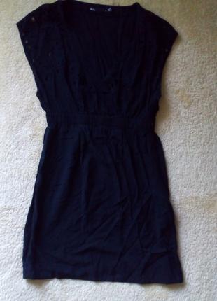 Туника блузка с вышивкой ришелье
