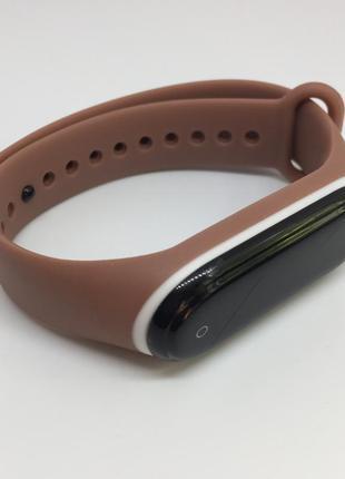 Силиконовый ремешок mi band 3 mi band 4 xiaomi двухцветный