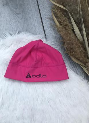 🔥акция 1+1=3🔥 odlo новая яркая термо шапка женская розовая