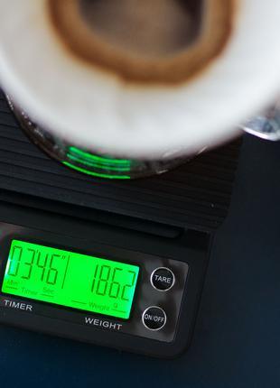 Новые весы с таймером для кофе, бариста, кухонные Coffee Scale