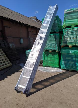 Трехсекционная алюминиевая полупрофессиональная лестница3х14