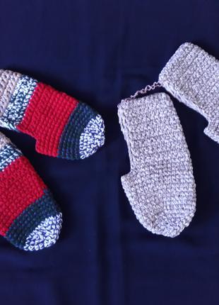 Теплые вязаные носки, тапки
