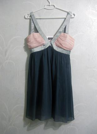 Платье сарафан lipsy london короткое мини коктейльное розовое ...