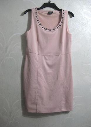 Платье миди chic by cellbes футляр офис нарядное нежное розово...