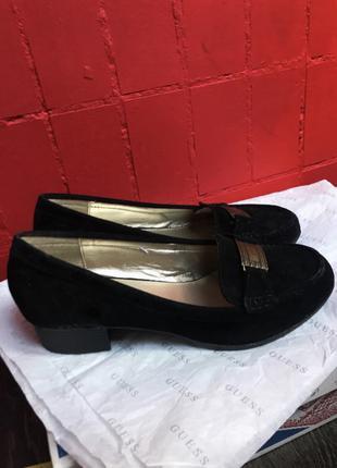 Замшевые туфли Chaps 36 размер лоферы Оксфорды