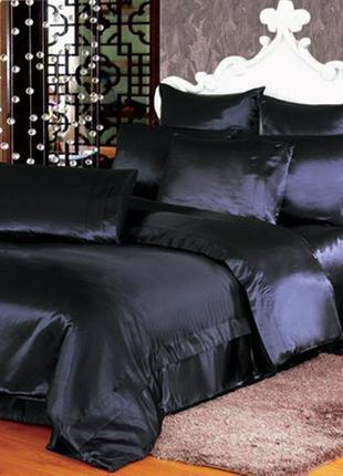 """Черное постельное белье атласное в размерах """"готика"""" семейный ..."""