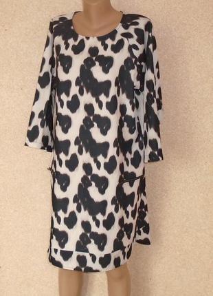 Чорно-біла сукня\плаття\платье черно-белое